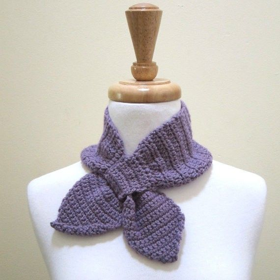 Ascot Keyhole Bowtie Scarf Free Knitting And Crochet