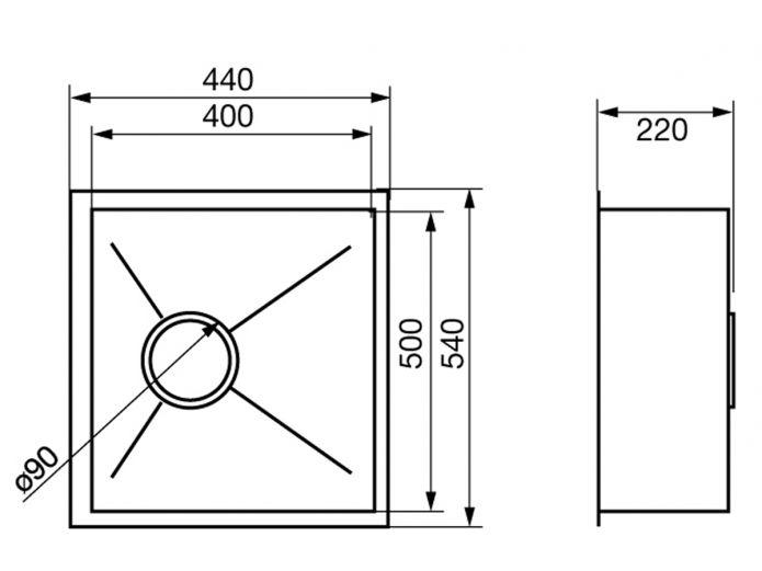 540 Undermount Kitchen Sink