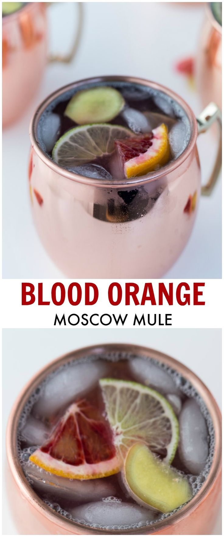 A fun and winter twist to the classic Moscow Mule recipe. This Blood Orange Moscow Mule is easy, smooth and refreshing.