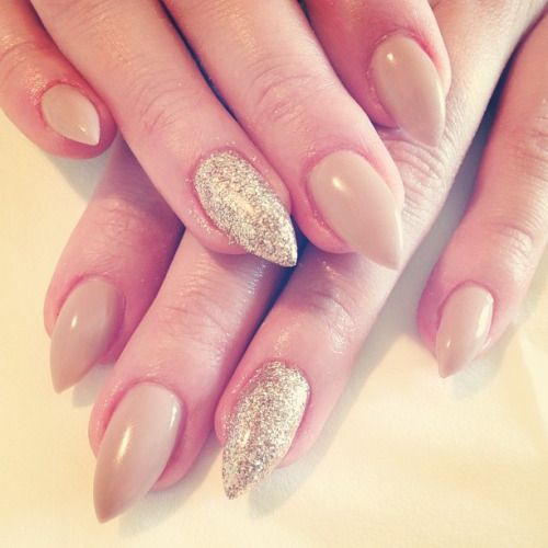 short pointy nails - Google Search