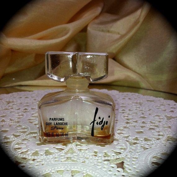 Fidji Perfume by Guy Laroche 1966 Bottle with by ScarlettsFancies, $60.00