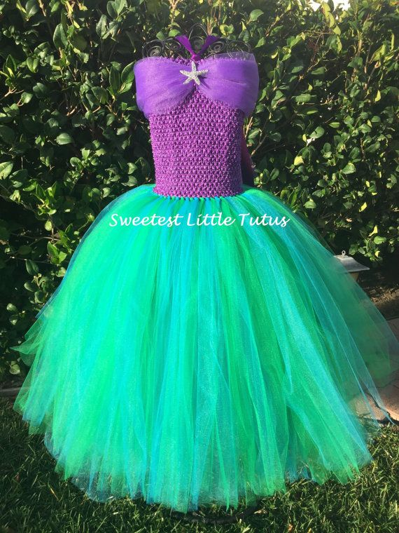 Little Mermaid Tutu Dress/ Mermaid Tutu Dress/ Ariel Tutu