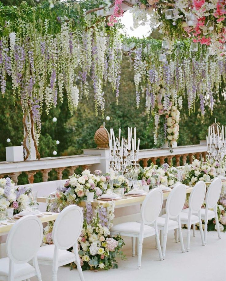 Church Wedding Decorations Ideas For Your Wedding In Italy: Capri Wedding Italy White Pink Blush Wisteria Hanging