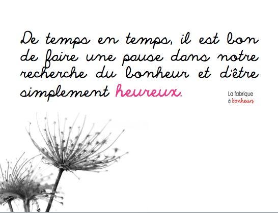 Pause bonheur ...