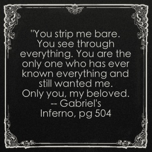 Gabriel's inferno ---only you.... I love you baby!