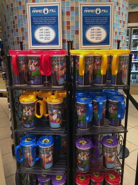 Rapid Fill Refillable Mugs At Walt Disney World Resort