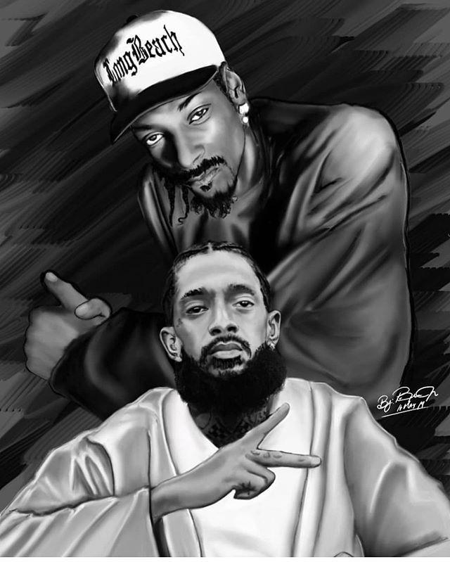 Art Snoop Dogg Nipsey Hussle Hip Hop Poster Hip Hop Images Hip Hop Artwork