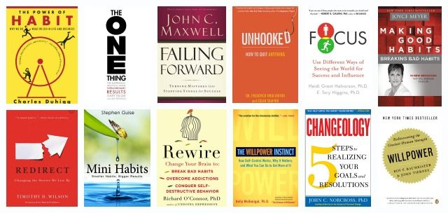 When envisioning a master list of the 'best habit books' the titles on this page immediately jumped to my mind.