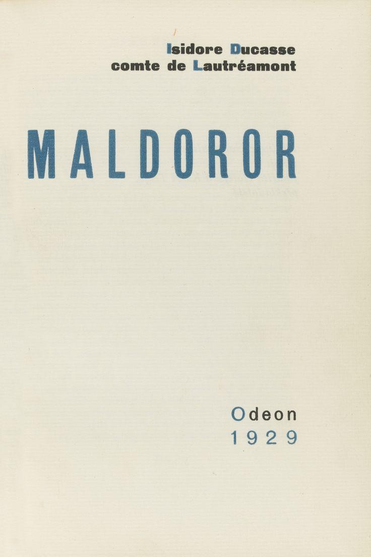 LAUTRÉAMONT, ISIDORE DUCASSE DIT LE COMTE DE MALDOROR. PRAGUE: ODEON, 1929 Estimate  2,000 — 3,000  GBP  LOT SOLD. 5,625 GBP