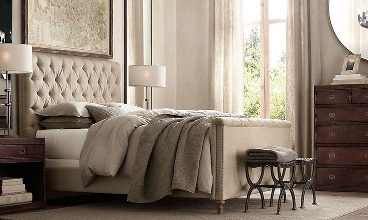 restoration hardware tufted bed 2