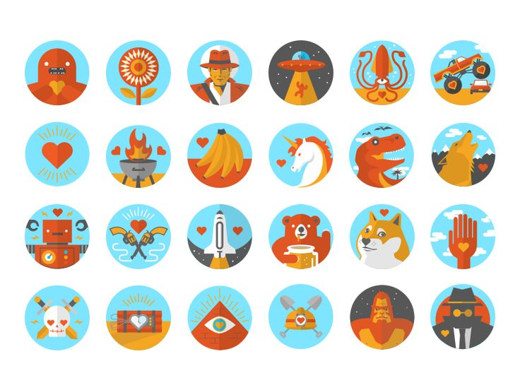 French Girls Achievement Icons by Graydon Speace