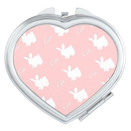 ClaireBlossomCute rabbit pink Mirror For Makeup - home gifts cool custom diy cyo