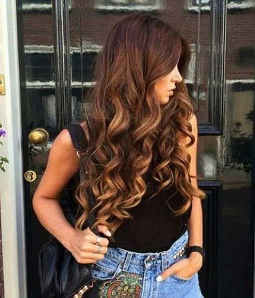 Cute Hairstyle for Curly Long Hair