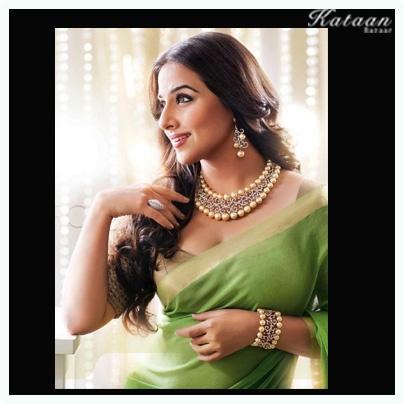 #Vidya Balan in the beautiful Green Saree