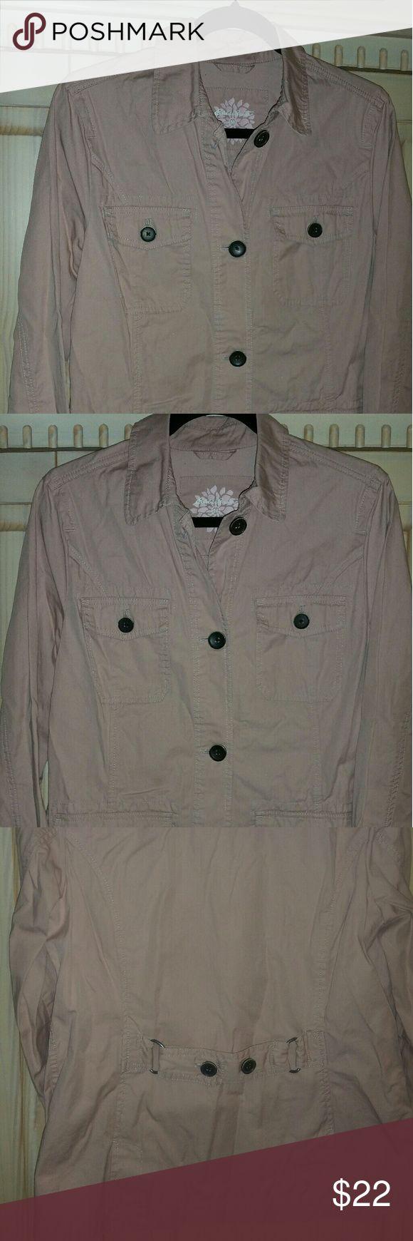 Eddie Bauer Cotton Jacket Beautiful longer cotton jacket in NWOT excellent condition. Dusty rose color. Jackets & Coats Utility Jackets