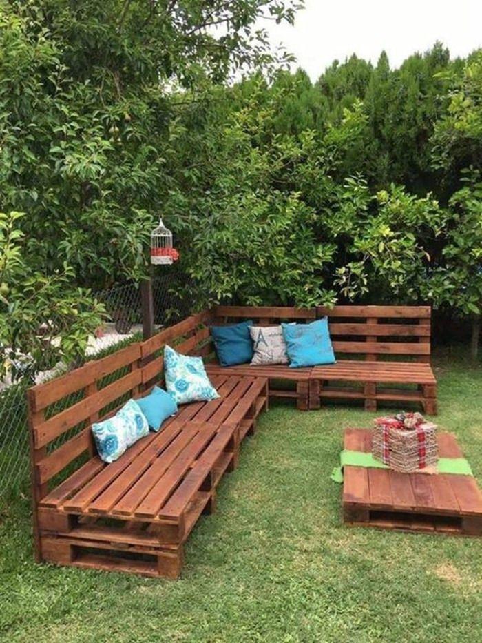 22 Jardines con palets de madera