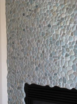 75 best Fireplaces Pebble and Stone Tile images on Pinterest