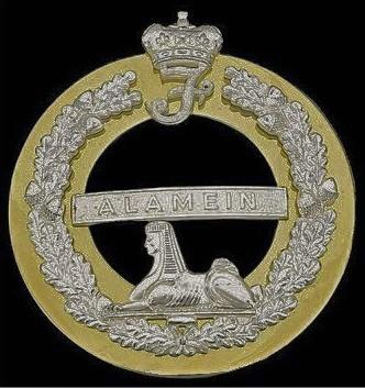 The Queens Own Highlanders (Seaforth and Camerons), Bandsmen's plaid brooch, post 1960, 88mm dia