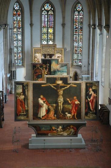 #134 ❘ le Retable d'Issenheim  ❘ entre 1512 et 1516 ❘ MATTHIAS GRÜNEWALD(1475 env.-1528)   Musée Unterlinden.