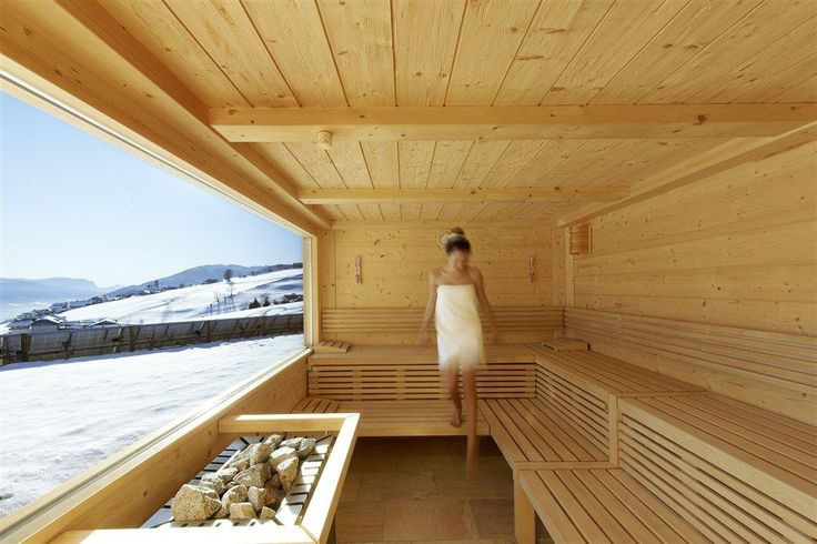 Finnische Panorama-Sauna