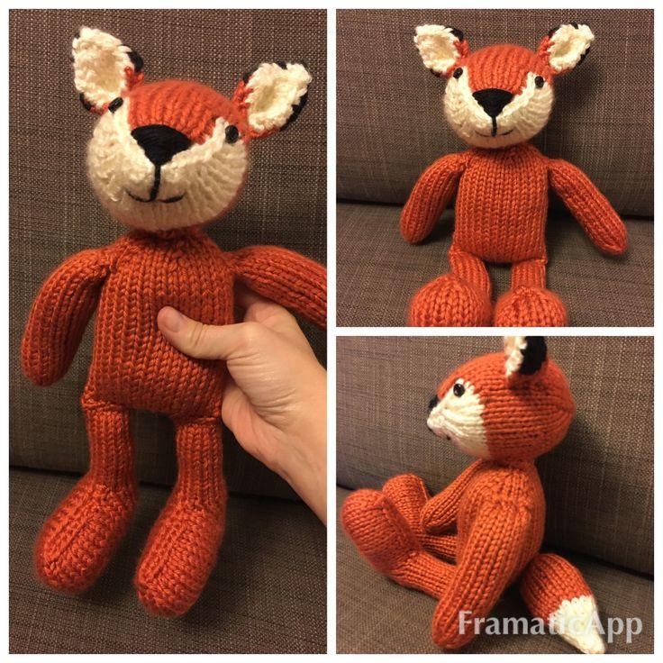 Toutou renard au tricot