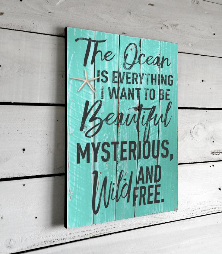 Beach Decor Nautical Quote Signs This Beautifully Printed Beach Quote Sign Will Hang To Inspire