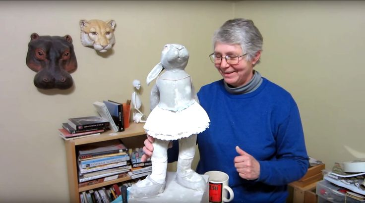 This is the famous recipe that takes all the mess and frustration out of paper mache. It makes sculpting fun again.