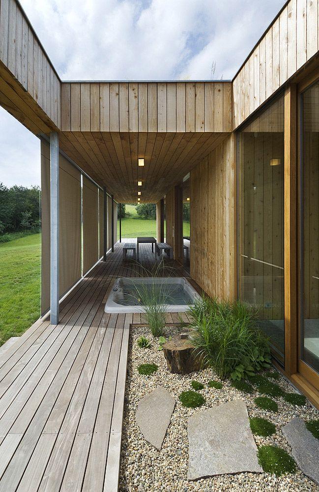 Jednopodlažný dom so zelenou strechou | Rodinné domy | Stavby | Architektúra | www.asb.sk