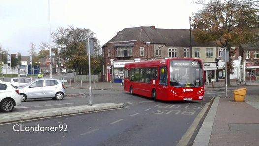 London Buses Route 347 Operated by Arriva from Grays (GY) garage Alexander Dennis Enviro200 GN08CHH 4010 Filmed on 31st October 2015