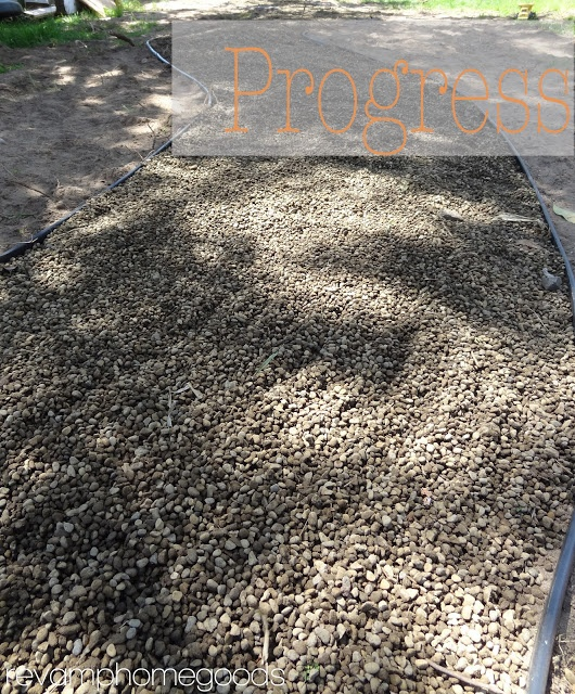 Revamp Homegoods: Budget Friendly Landscaping: Pea Gravel Pathway