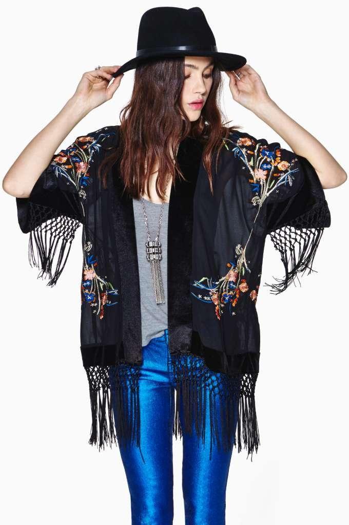 Dylan Fringed Kimono