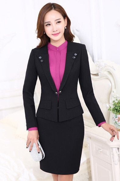 Professional female long-sleeve suit pants fashion slim business ladies office wear trouser suits plus size blazer set