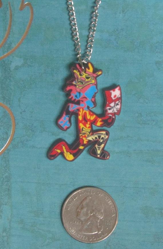 clown posse jokers card hatchetman necklace by