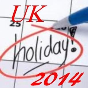 The next bank holiday is in the August  month. You can check the August bank holiday 2014 dates and event list. It takes place at various times throughout the year.  http://augustbankholiday.com/uk-bank-holidays/