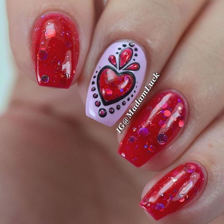 Heart Nail Art: Best 25+ Heart Nails Ideas On Pinterest