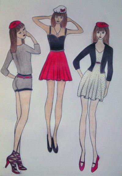 #girls#fashion#France#longlegs#drawing