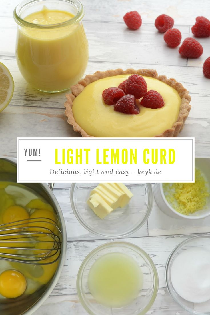Light lemon curd recipe - easy