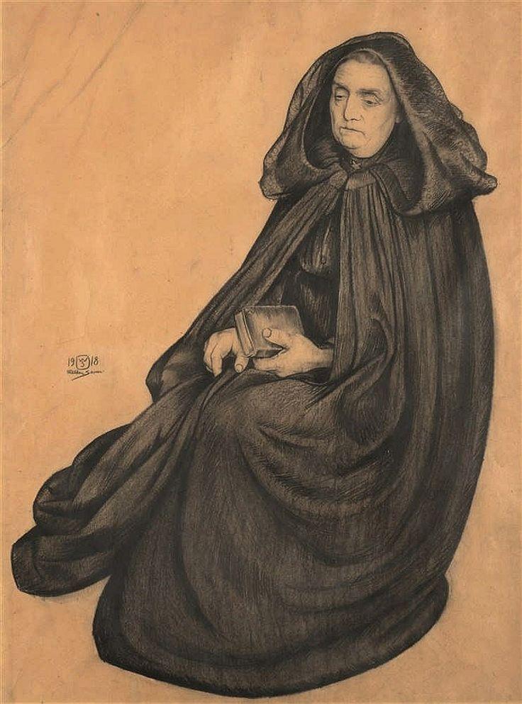 Walter Sauer (1889-1927) Femme méditative, 1918