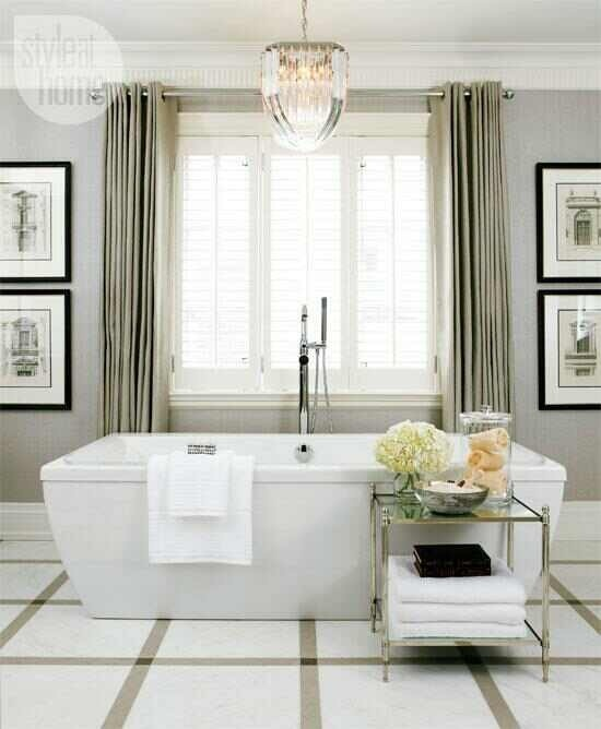 Hamptons bathroom bathrooms pinterest beautiful for Beautiful bathroom decor