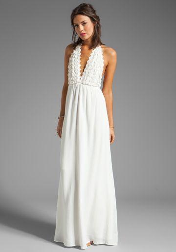 White maxi dress wedding