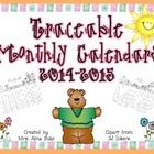 Traceable calendars for the months of August 2014 through August 2015.  These calendars are simple for students to practice number tracing and writ...