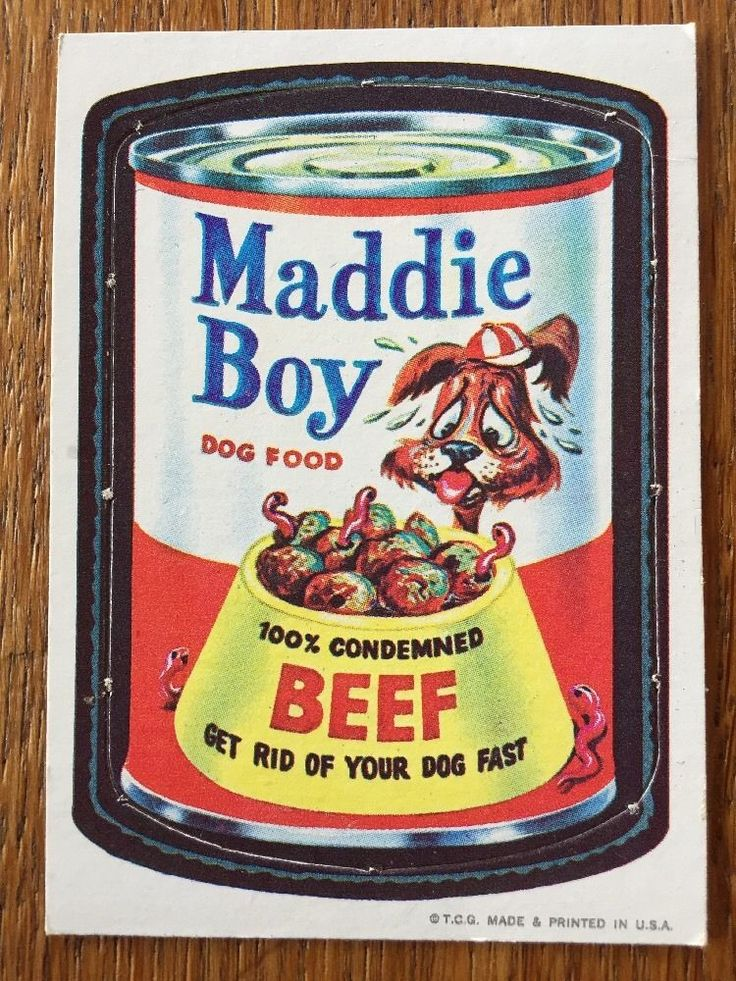 Vintage Topps Wacky Packages Die Cut 21 Maddie Boy RARE