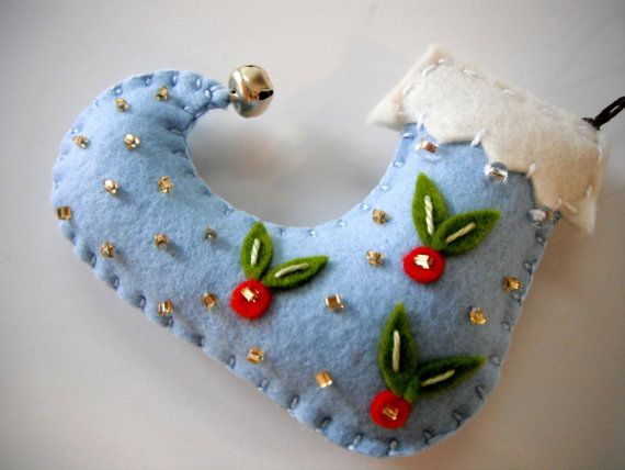 Felt Christmas Ornaments made by Miki ALL HANDMADE by MikiStitch, $11.50