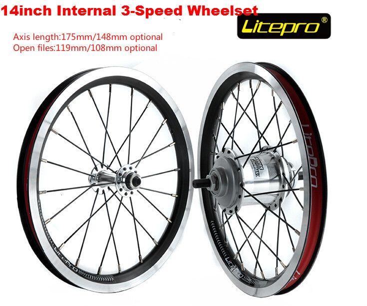 Litepro 14inch internal 3-speed wheelset folding bike BMX wheel set for sturmey archer SRF3 #Affiliate