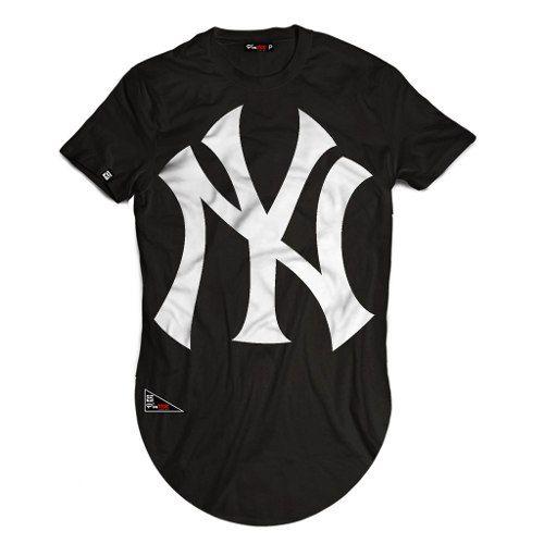 789aecdedf Camiseta Long Line Oversized Masculina New York Kings Swag - R  48 ...