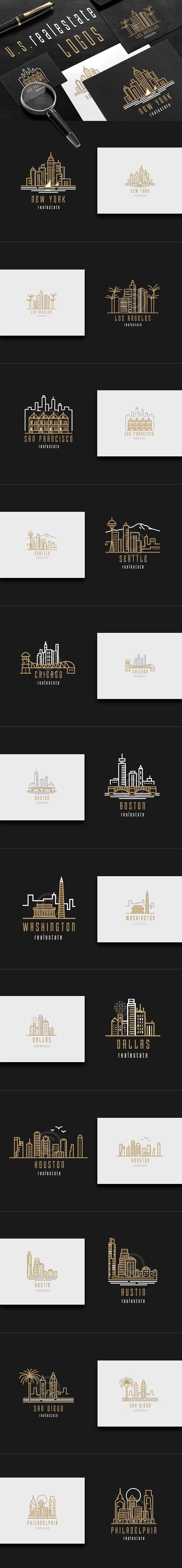 U.S. real estate logos by Polar Vectors on @Graphicsauthor