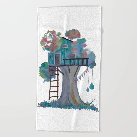 "Lay out like a pro with this super comfy, oversized and unique artist-designed Beach Towel. The soft polyester-microfiber front and cotton terry back are perfect for, well, drying your front and back. This design is also available as a bath and hand towel. Machine washable.  Towel Dimensions: 74""x37"""