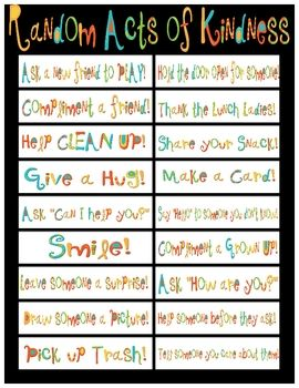 In my classroom we are working on Manners and Random Acts of Kindness.  I used this printable to cut apart and glue on wide popsicle sticks.  We choose a new stick each day!