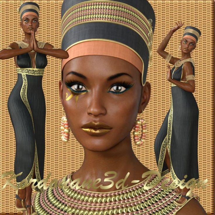 Néfertari : Tube de femme déesse égyptienne