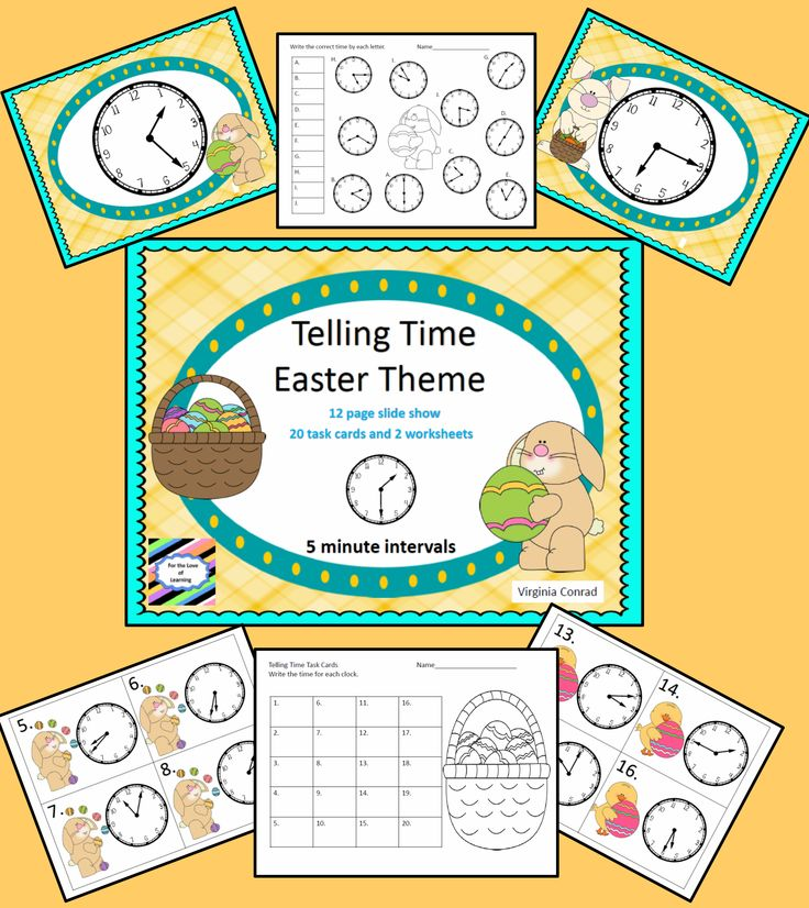 telling time to five minute intervals easter theme telling time worksheets and easter. Black Bedroom Furniture Sets. Home Design Ideas